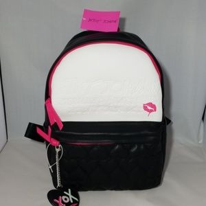 Betsey Johnson backpack black and white